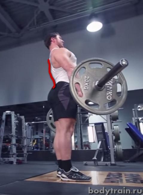 Выполнение становой тяги