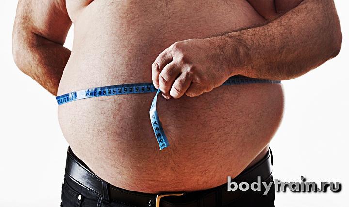 худая жир на животе