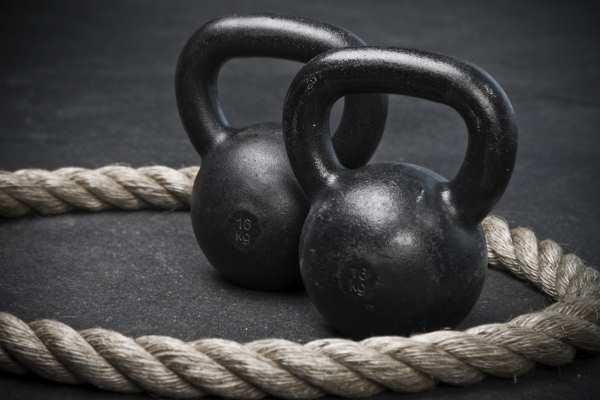 Упражнения с гирями