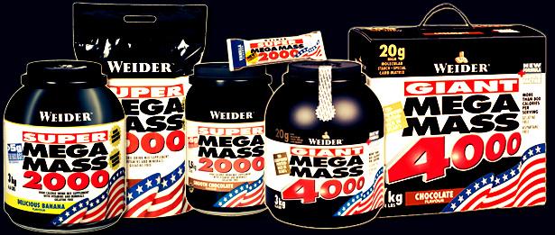 Гейнер Мега Масс 2000 помогает набрать мышечную массу