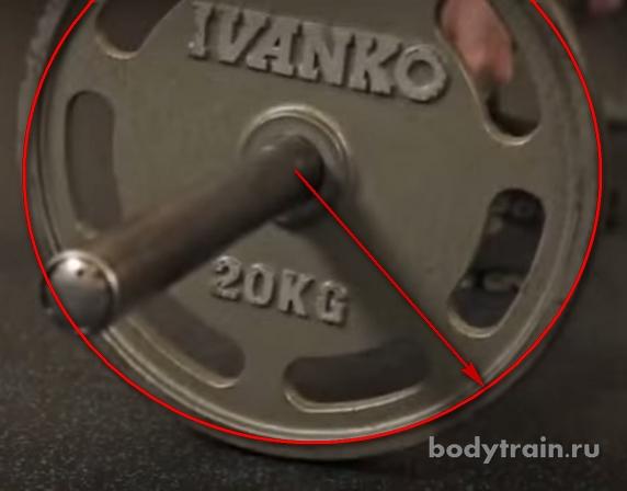 Использование стандартных блинов в становой тяге