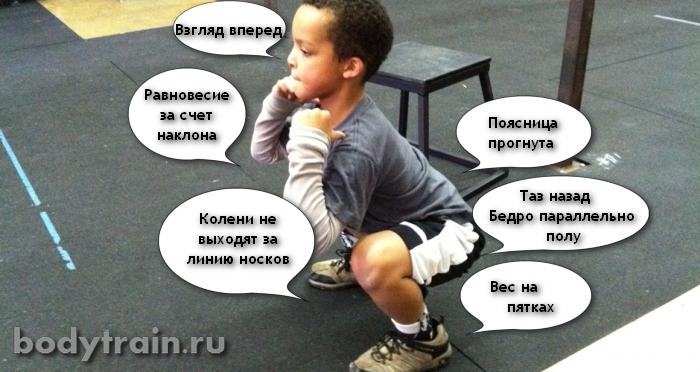 Правильные приседания - механика движения