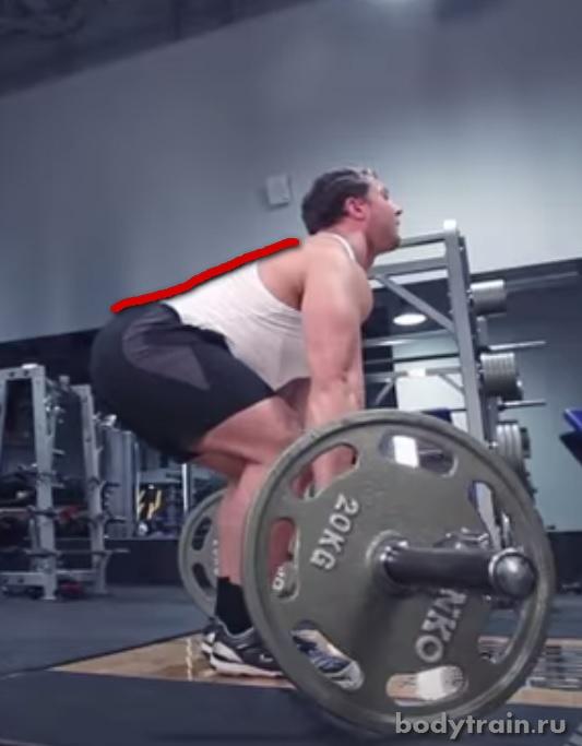 Становая тяга техника выполнения