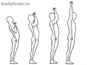 Как делать жим стоя - траектория движения