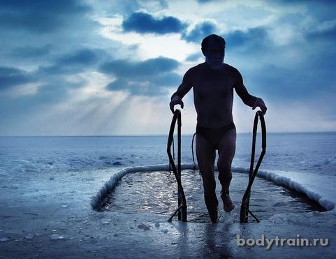 Закаливание для спортсмена - купание в ледяной воде
