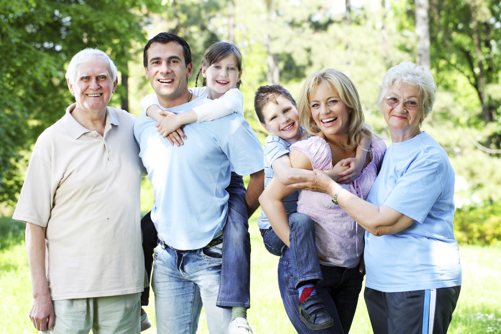 фото большой счастливой семьи